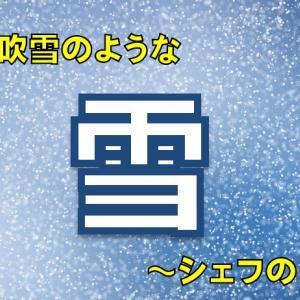 【雪】まるで白い花吹雪のような大粒の雪