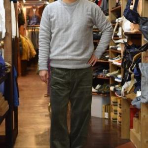 JOHN GLUCKOW   Net Maker's Trousers  コーデュロイ オリーブ