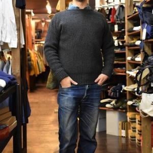 またボートネックセーター 今度は単色 LOOP&WEFT
