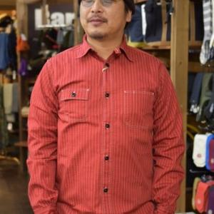 シュガーケーン SC28340 8.5oz ウォバッシュシャツ RED