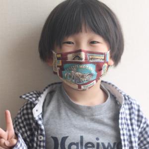 男の子用の手作り布マスク♪