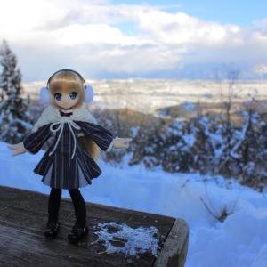 雪山の上のエルノさん