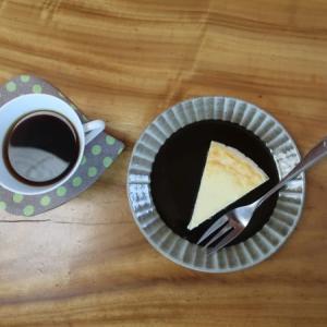 キルトで「コーヒーのある風景」