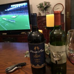 ラグビー観戦しながら、家飲み!
