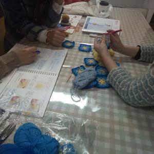 1月23日(木)編み物教室開催しました。