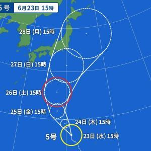 台風によって梅雨前線が刺激されなければ良いのですが・・・