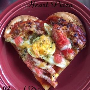 子どもと作れる可愛いハートピザ