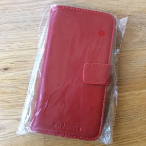安物携帯ケースを買ってもらった。
