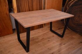 ヒノキアンティーク天板×アイアン脚テーブルとクリのテーブル完成!