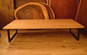 無垢クリ材2wayテーブルとヒノキ節無し水槽台そしてヒノキテーブル完成!