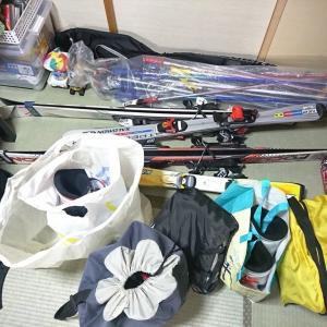 今シーズン初スキーに向けて準備中