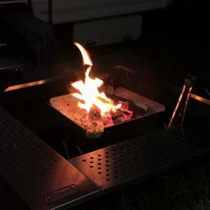 初張りオーニングテントにお初の渚園キャンプ場満喫中