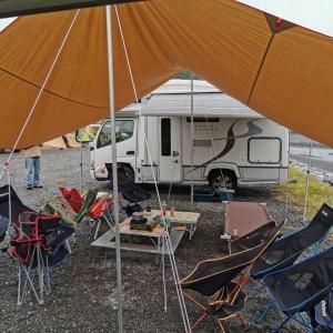 秋の気田川カヌーキャンプ~初日は雨模様でまったりキャンプに
