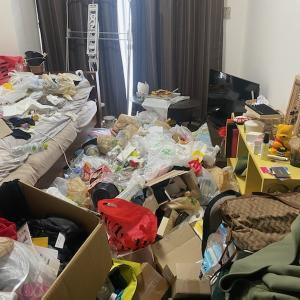 引越しのお部屋片付け(1Kビフォーアフター)ゴミ屋敷清掃はプロにお任せ