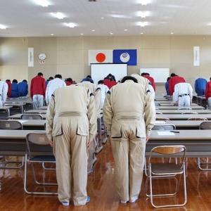 土浦学院の初期訓練(講堂編)