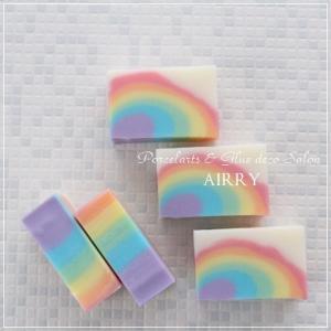 **虹の手作り石鹸♪**