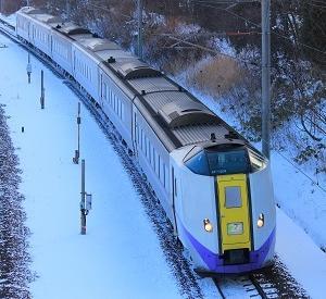 1月24日の特急「スーパーおおぞら6号」がモノクラス6両編成で運行