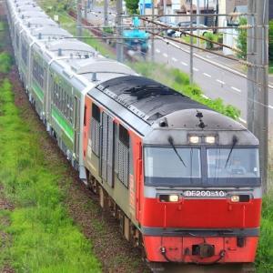 6月17日の甲種輸送!!H100形12両が釧路へ向けて輸送される