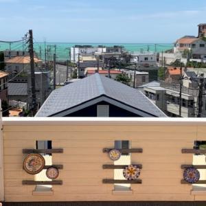 フラメンコの大皿 & 湘南のエメラルド海