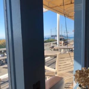 大壺の蓋の絵付け & 七里ヶ浜「double doors」