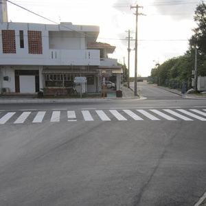 久米アイランド前に横断歩道ができました