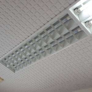 天井埋め込み式の照明器具の一台が、、