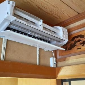和室の塗り壁にエアコンを取り付ける時には『タテサン』