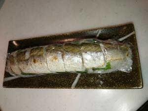 大漁のカマス料理第2弾Wカマスの棒寿司を作ったw