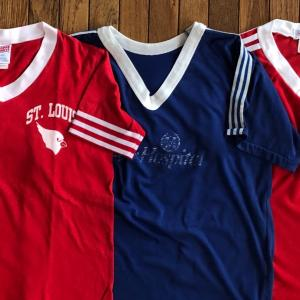 70-80年代ノーブランド「VネックトリムTシャツ」MADE IN USA(米国製)
