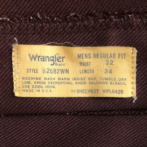 80年代Wangler(ラングラー)「ノンデニムパンツ」MADE IN USA