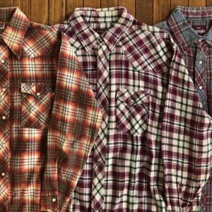 80年代Wangler(ラングラー)「(フランネル素材)ウエスタンシャツ」米国製