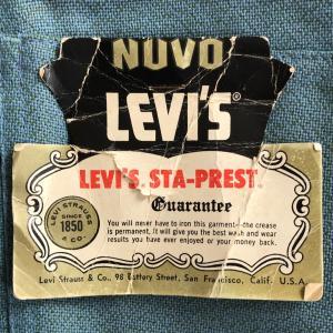 60年代LEVI'S(リーバイス)「STA- PREST®(スタプレ)」デッドストック