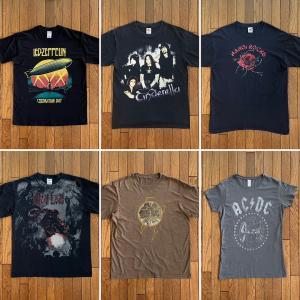 ロック(バンド)Tシャツ「レッドツェッペリン」「AC/DC」「シンデレラ」「ハノイロックス」