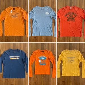 ホリスター/アバクロンビー&フィッチ/アメリカンイーグル「L/S(長袖)Tシャツ」