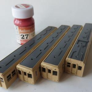 クリーム色塗ってから半年以上 GM#412 阪神3801・3901形を組む(その7)