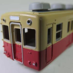 車体の細部を塗り分ける グリーンマックス#412 阪神3801形(その9)