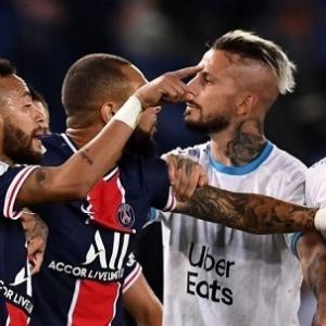 PSGとマルセイユの乱闘、ネイマールら5名の処分決定…マルセイユ左SBアマビィは3試合出場停止