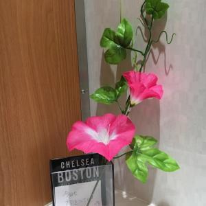 某井原里駅構内のお花