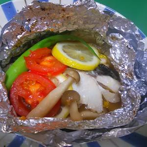 オーブントースターで白身魚のホイル蒸し焼き