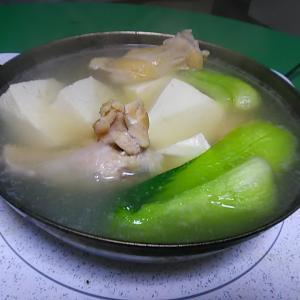 鶏がらスープの湯豆腐
