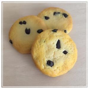 チョコチップクッキーの焼き色