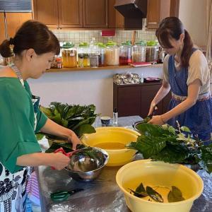アカマツ、枇杷の葉で作る発酵エキス教室開催しました。