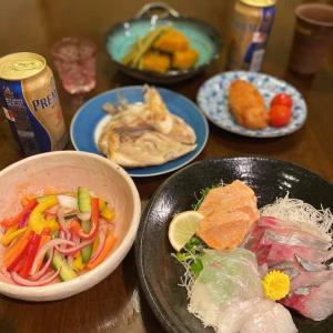 前月浜松に帰ってきた長女と一緒に夕食。