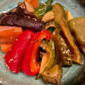 夏野菜がたっぷり取れる南蛮漬け。