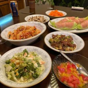 家族で夕食