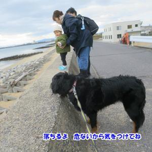 初詣後の海岸散歩
