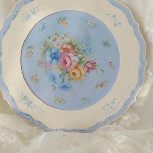 ジョーソニアデザイン、Chinoiserie in Blueを明るくアレンジ