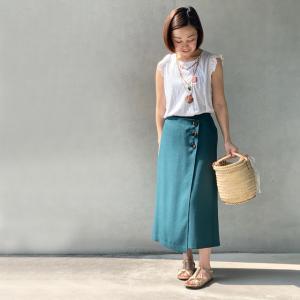 【本日21時より】5号サイズのラップスカート風パンツ販売START!