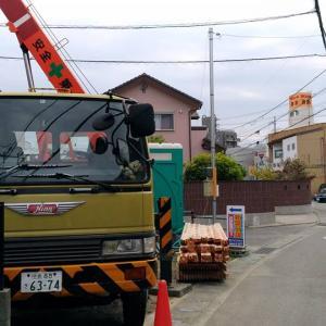 鳴門市撫養町小桑島、上棟です。