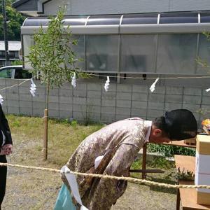 鳴門市撫養町黒崎字松島、地鎮祭です。